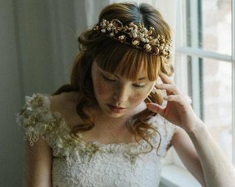 Double wedding crown, bridal tiara, wedding headpiece - Treasure Trove no. 2174