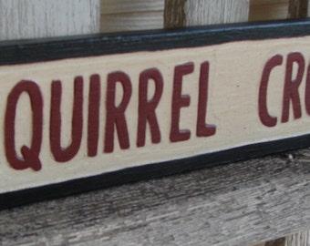 Squirrel Crossing Sign