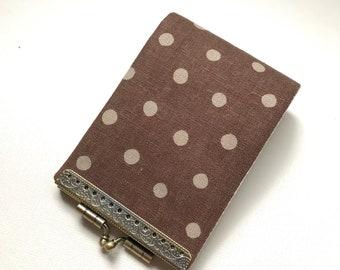 Polka dot Cotton Linen - Fabric Business Card Holder, Credit Card Wallet, Credit Card Holder Wallet, Credit Card Case, Women Card Organizer