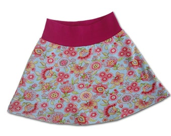 SALE 50% OFF Girls Skirt, Floral Spring Skirt for Girl, Toddler Skirt, Knit Skirt, 3T  Euro Designer Fabrics Farbenmix