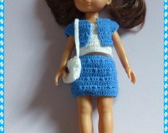 Fiche patron explication crochet pour tenue vêtements poupée corolle chéries