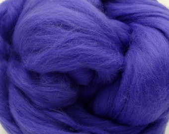 4 oz. Merino Wool Top - Violets are Blue