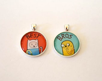 Adventure Time Finn and Jake / Fionna and Cake Friendship Pendant (no chain)