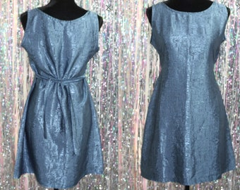 Thai Silk Royal Blue Silk Dress (S) *New