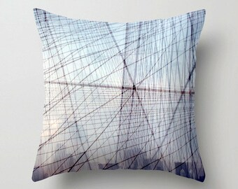 nyc art throw pillow. geometric decor. new york photo pillow cover. decorative pillow. nyc photography accent pillow surreal brooklyn bridge