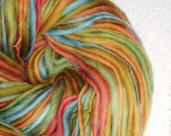 Gedämpft, erdige Farbtöne ich - Handspun - Single-Ply Yarn - 108 Yards - stricken - häkeln - weben - Filzen - Faser Kunst, etc..
