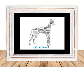 Ibizan Hound,Ibizan Hound Art,Ibizan Hound Artwork,Ibizan Hound Print,Custom, Personalize, Pet Gift, Dog Art, Pet Memorial, Custom Dog