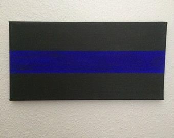 Thin Blue Line Canvas