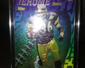Jerome Bettis 1998 Mystery Finest Refractors #M10 In a Stand-up Display Case