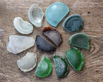 12 pcs Sea glass bottle seaglass bottle bottom new home housewarming gift house warming gift new home gift first home gift rustic home decor
