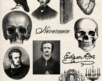 Edgar Allan Poe Photoshop Brushes - VDPBGO1158