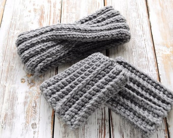 Knit Headband and boot cuffs, Winter Knit Headbands, Girls Knit Headbands, Kids Knit Headbands, Womens Knit Headbands
