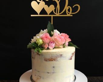 We Do Cake Topper, Wedding Cake Topper, Custom Cake topper