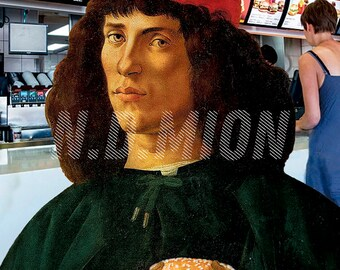 Portrait of a Man with Burger