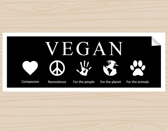 Vegan bumper sticker black