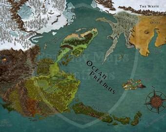 Fantasy map etsy custom fantasy map gumiabroncs Images