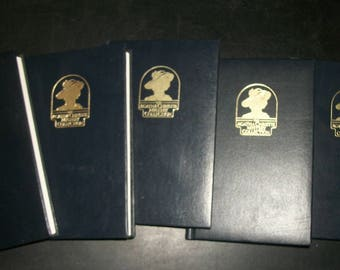 Vintage Agatha Christie Leatherette Bantam Hardcover Collection Lot of 5: ABC Murders, Orient Express, Sittaford, Clocks, Then Were None