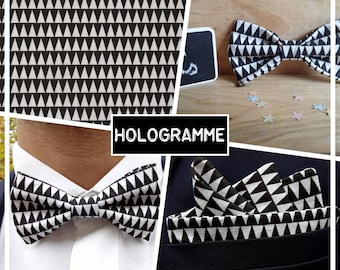 "Bow adult ""HOLOGRAM"" black and white collection"