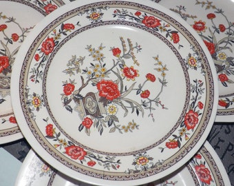 Vintage (1970s) PECO Co. Shin-San Melamine Ware salad or side plate. Chinoiserie florals.