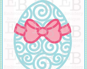 Swirly Egg Bow SVG - This design is to be used on an electronic cutting machine. Instant Download