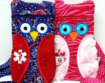 Owl Epi-Pen / Medicine Pack / Epi-Pen Case / Purse