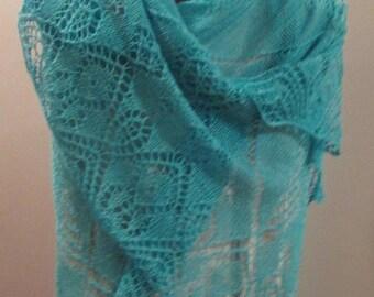 MOTHERSDAY Elegant Lace Shawl in Silk Cashmere Luxury Yarn