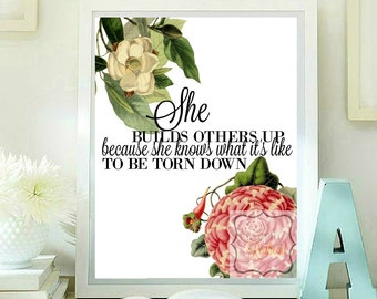 She builds others up ... Quotes printable