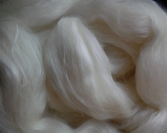 Corriedale and Rose, Spinning Fiber blend, Corriedale wool, Rose fibre, natural roving for spinning, felting
