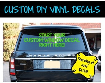 VD0001 - Custom Window Decal - Business Vinyl - Window Decals - Your Design!