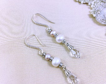 Iona wedding earrings / freshwater pearl earrings