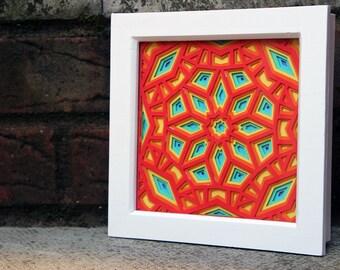 Framed Geometric Layered Paper Cut