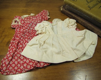 Two (2) Vintage Handmade Doll Dresses