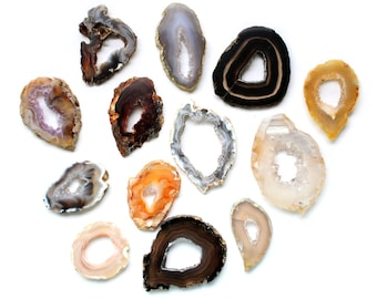 Agate Slice -Occo Geode Agate Slices Highest Special A Quality - Geode Slices -  50 Wire Wrapping - RK19B5(50QTY)