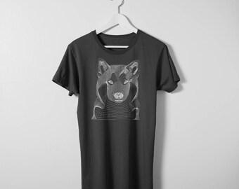 T-Shirt. Resonance. White dog