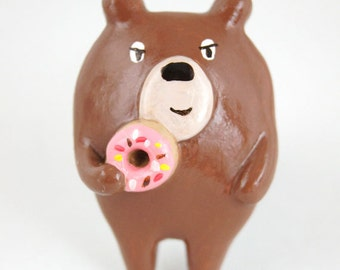Donut Bear Brooch (003)