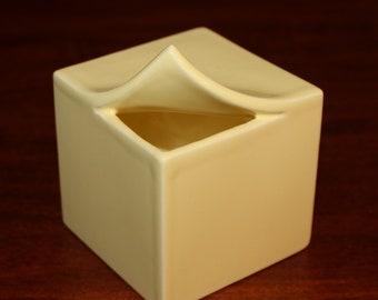 Mikasa Design Helena Uglow vintage geometric ceramic bud vase in pale yellow