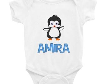 Amira Penguin Infant Bodysuit
