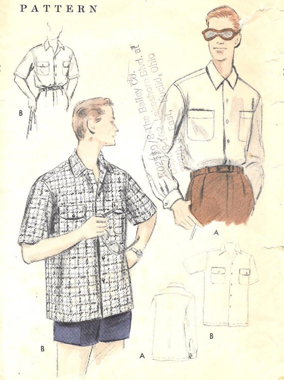 Men\'s Vintage Reproduction Sewing Patterns