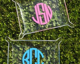 Monogrammed Acrylic Tray | Personalized Acrylic Tray | Initial Acrylic Tray | Acrylic Jewelry Tray | Monogrammed Jewelry Tray