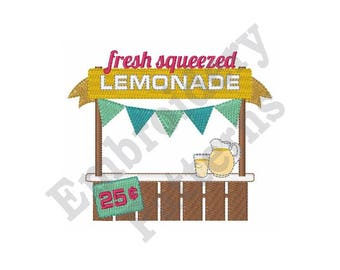Fresh Squeezed Lemonade - Machine Embroidery Design