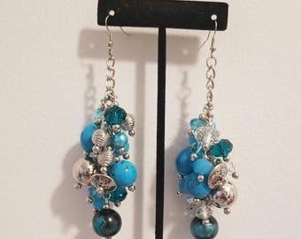 Blue Bulk Earrings