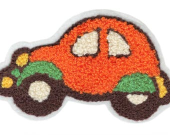 Xl 12cm Extra Large Cool Chenille Car Patch Badge Applique