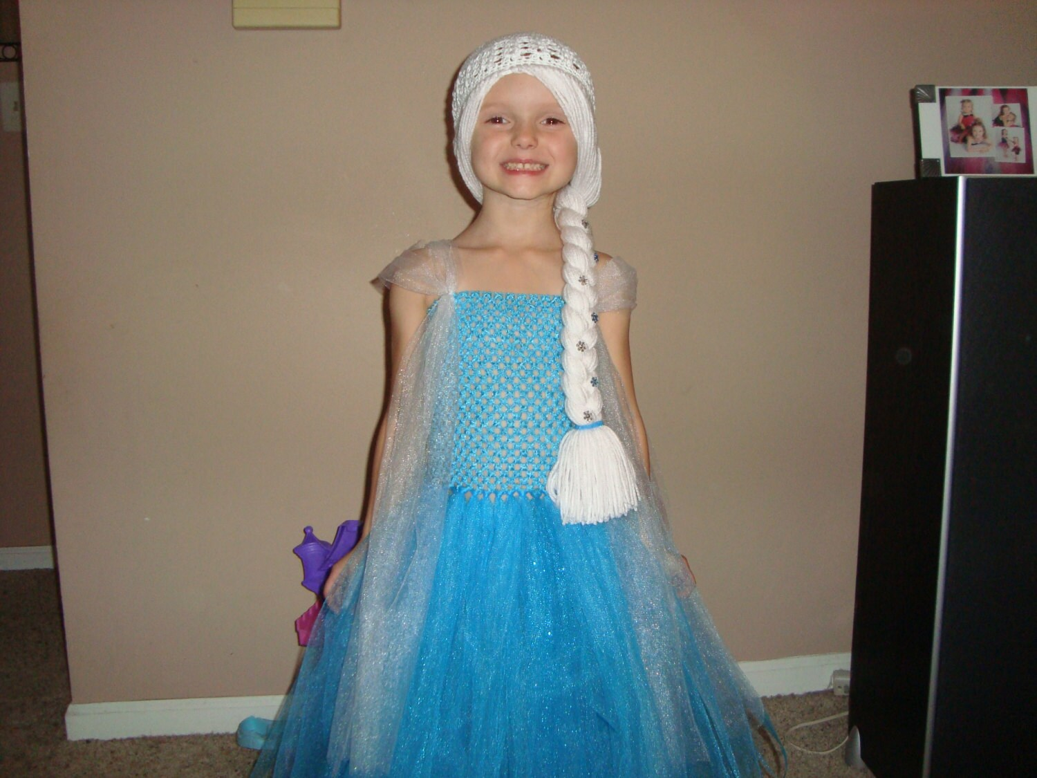 Elsa inspired Tutu Dress and Wig Hat Frozen inspired outfit