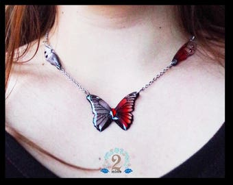 Harley Quinn Butterfly Necklace