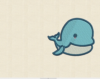 Whale  Embroidery Design whale 3x3 whale 4x4 whale 5x5