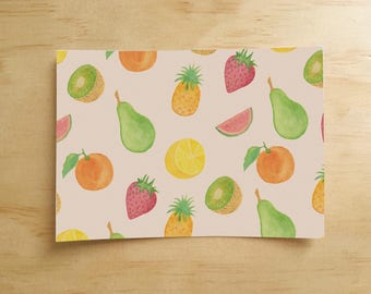 Fruit Pattern Postcard