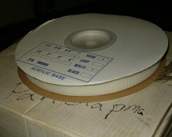 """HOOK ONLY 1"""" white adhesive tape hook and loop tape"""