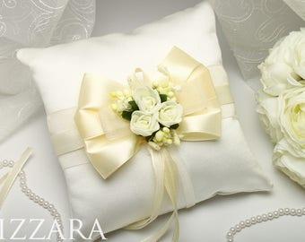 Ivory Wedding summer wedding pillow Ivory Wedding Ring Pillow Wedding Ivory Ring Pillows Ivory Wedding flowers Pillow Bearer Ivory Wedding