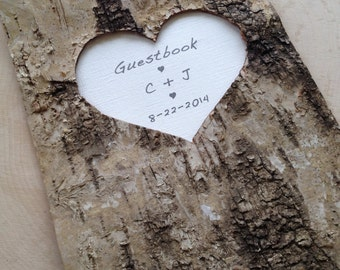 Birch Bark Wedding Guest Book - Birch Bark Advise Book - Rustic Wedding Wishes Book - Woodland Wedding - Barn Wedding
