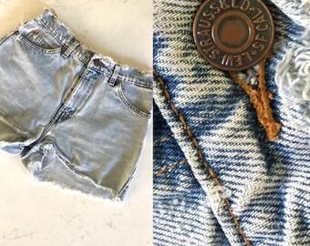 LEVI SHORTS DENIM Shorts High Waisted Shorts Denim Cut Off Shorts LEVIs Shorts Womens Shorts 80's Shorts Distressed Vintage